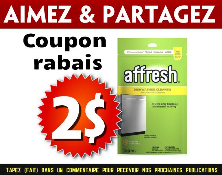 coupon rabais Affresh