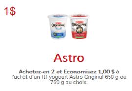 coupon rabais Astro