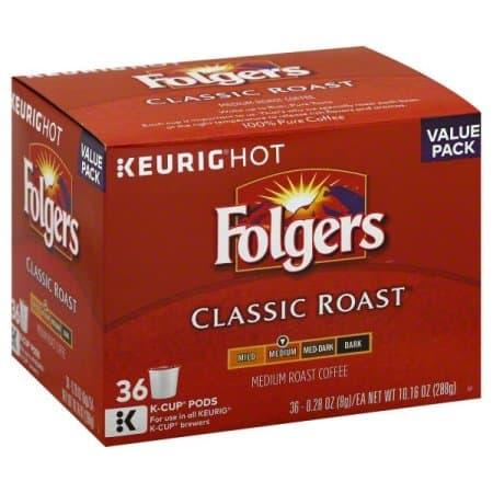 coupon rabais Folgers K-cup Pods