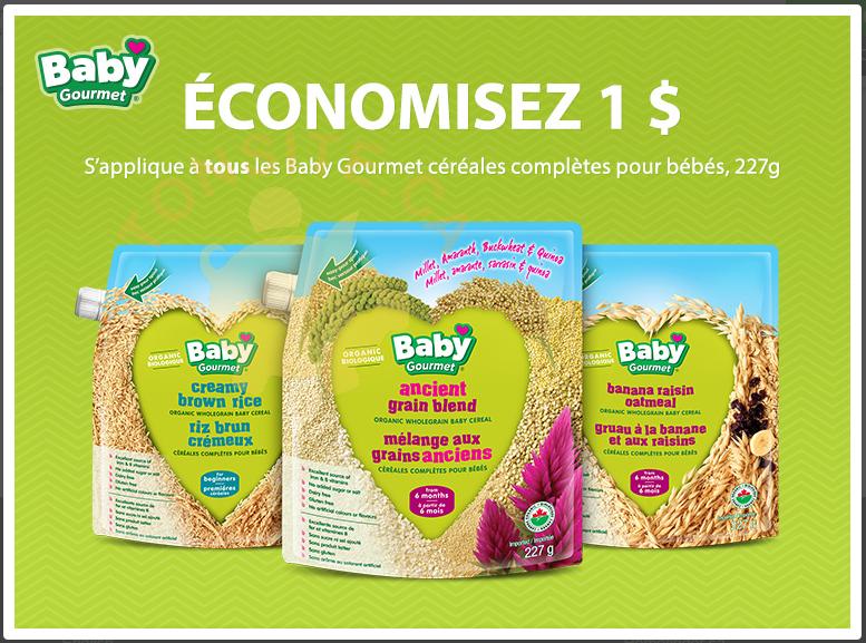 coupon rabais Céréales Baby Gourmet