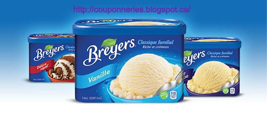 coupon rabais Breyers