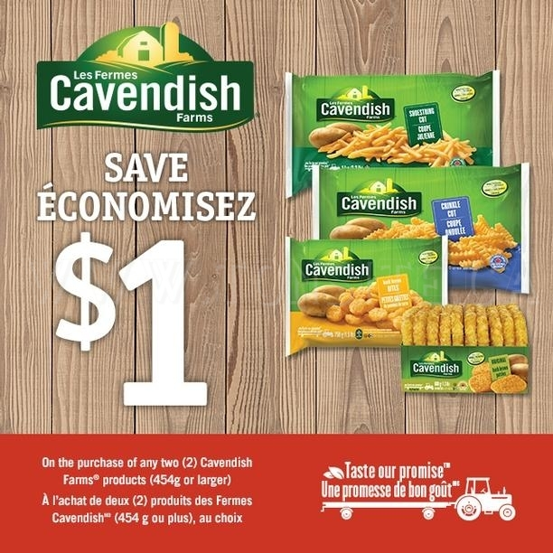 coupon rabais Cavendish Farms