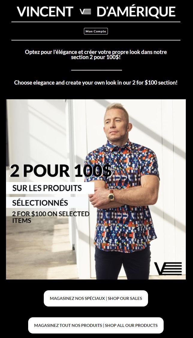 2 Hauts Pour 100$!