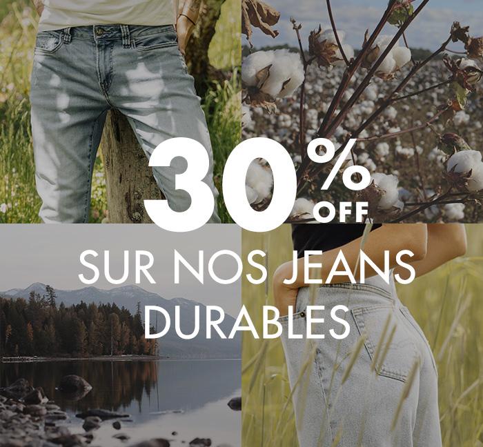 30% De Rabais Sur Tous Nos Jeans Durables !