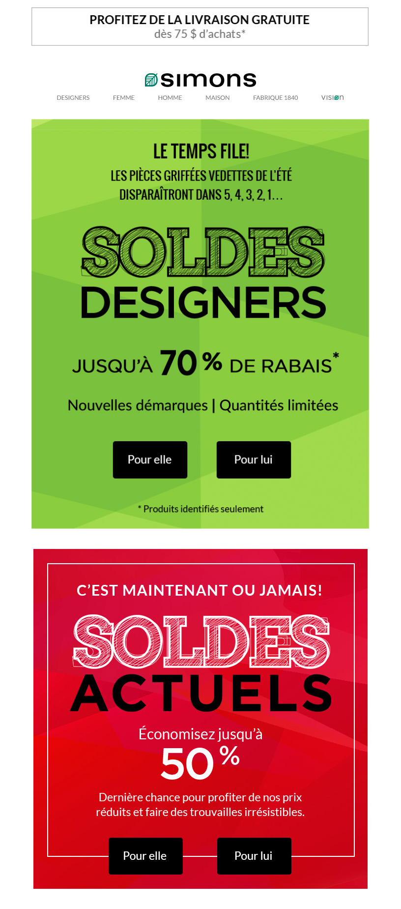 Adieu, Soldes Designers...