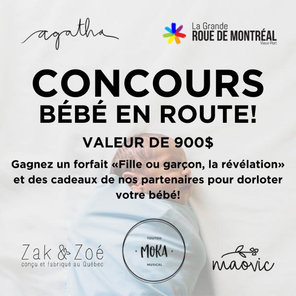 Concours Bébé En Route (valeur De 900$)!