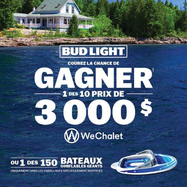 Concours Bud Light & We Chalet!