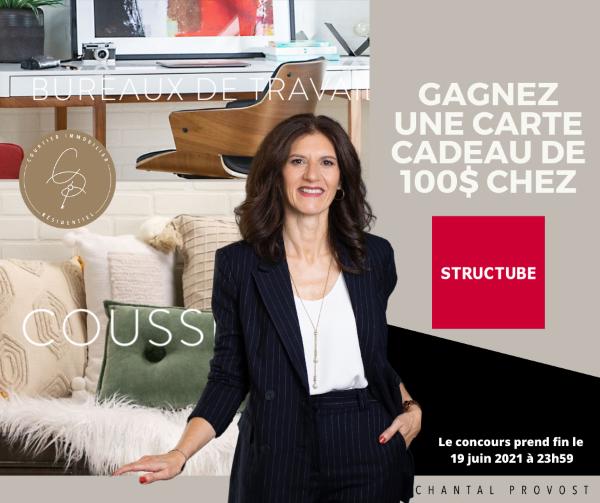 Concours Gagne 100$ Chez Structube!
