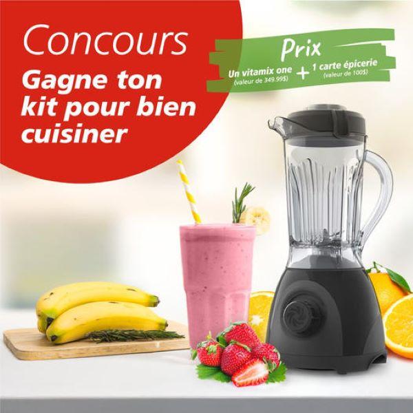 Concours Gagnez 1 Des 2 Fabuleux Kits Pour Cuisiner Comprenant Un Vitamix Et Une Carte Cadeau Metro De 100$!