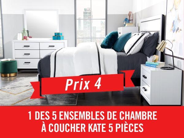 Concours Gagnez 1 Des 5 Ensemble De Chambre à Coucher Kate 5 Pièces Avec Grand Lit !