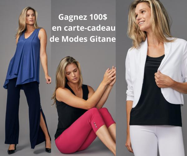 Concours Gagnez 100$ En Carte Cadeau Modes Gitane!