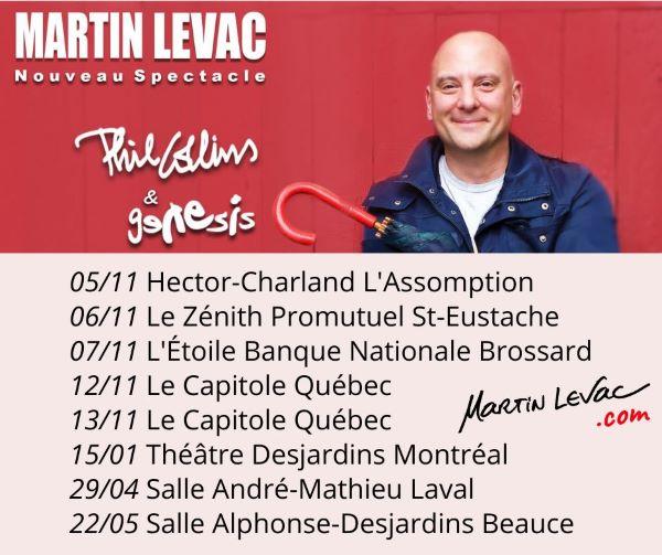 Concours Gagnez 2 Billets Pour Un Spectacle De Martin Levac Dans La Salle De Votre Choix!