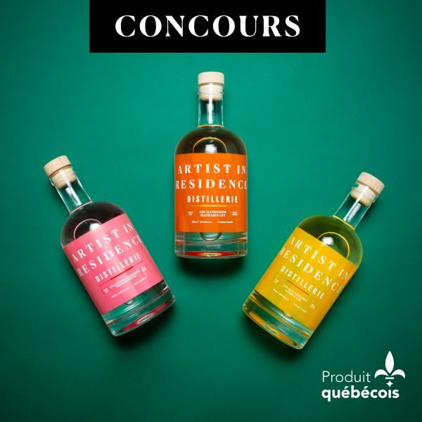 Concours Gagnez 3 Bouteilles De Gin Artist In Residence Distillerie!