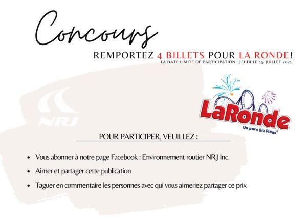 Concours Gagnez 4 Billets Pour La Ronde!