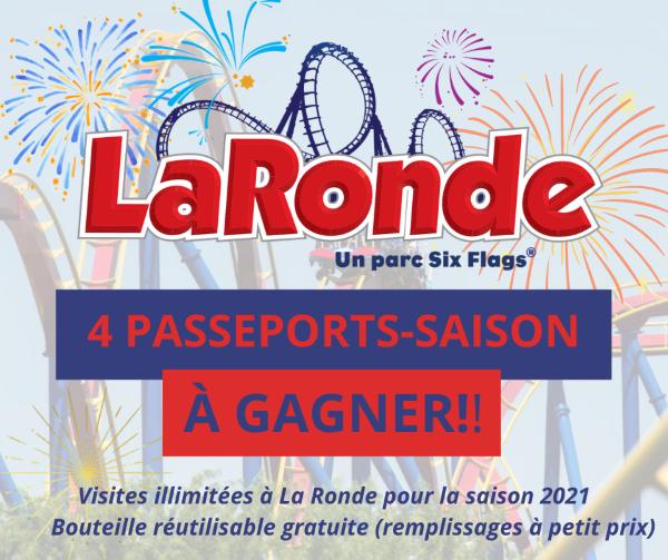 Concours Gagnez 4 Passeports Saison De La Ronde!