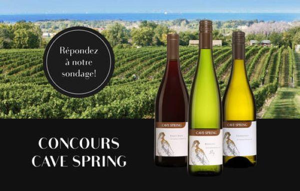 Concours Gagnez 6 Bouteilles De Vin De Cave Spring Cellars Réputé Vigneron De La Région Du Niagara!