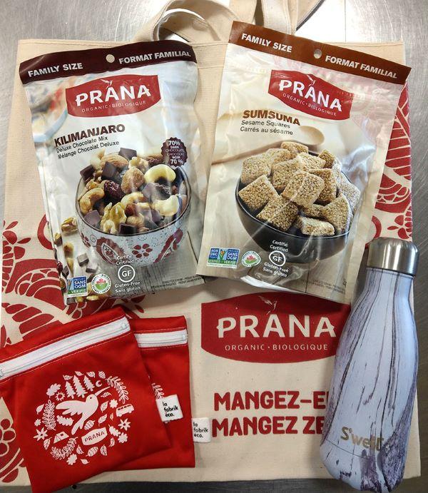 Concours Gagnez Ensemble Cadeau Prana Snacks!