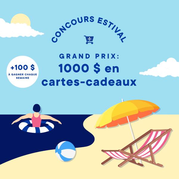 Concours Gagnez Jusqu'à 1000 $ En Cartes Cadeaux à Dépenser Dans Des Commerces Québécois!