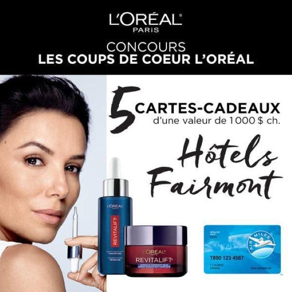 Concours Gagnez L'une Des 5 Cartes Cadeaux Fairmont Hotels & Resorts D'une Valeur De 1000$ Chacune!