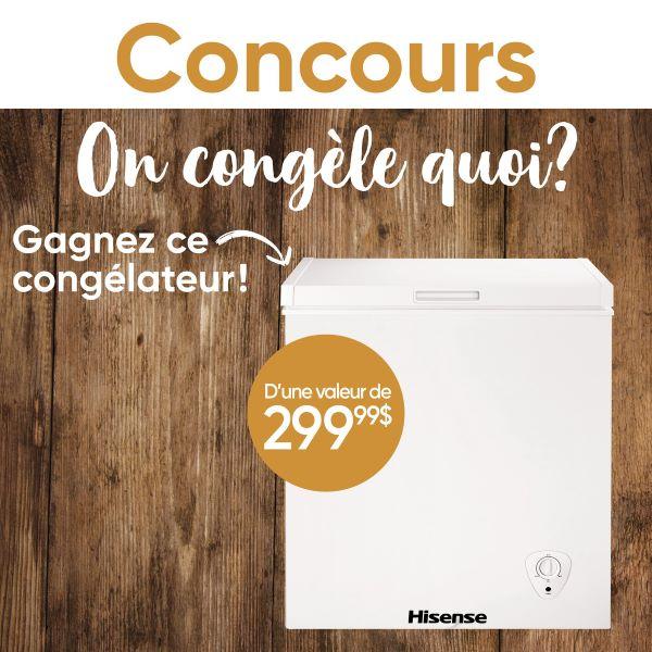Concours Gagnez Un Congélateur Hisense D