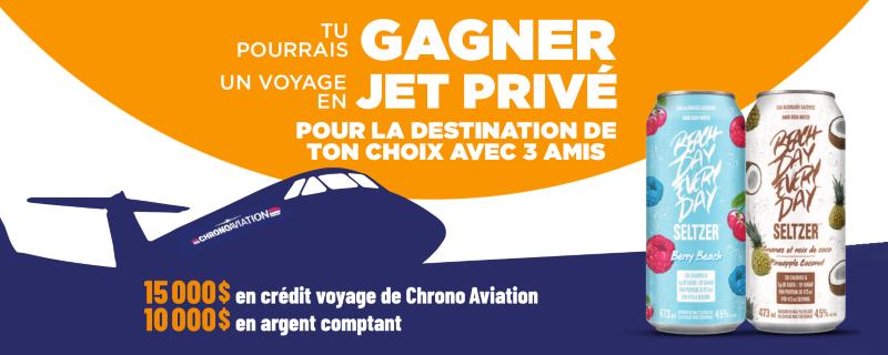Concours Gagnez Un Crédit Pour Un Voyage En Jet Privé!
