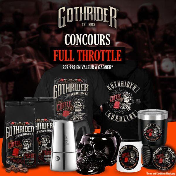 Concours Gagnez Un Ensemble Cadeau Gothrider Full Throttle!