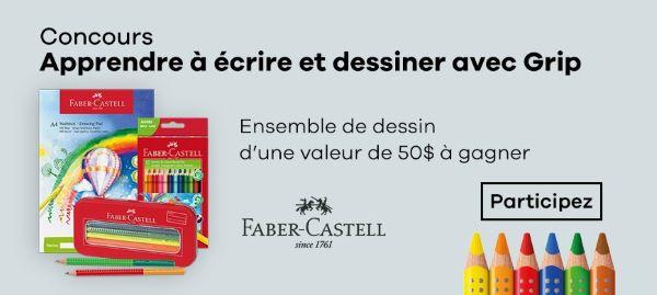 Concours Gagnez Un Ensemble De Dessin Faber Castell Grip D