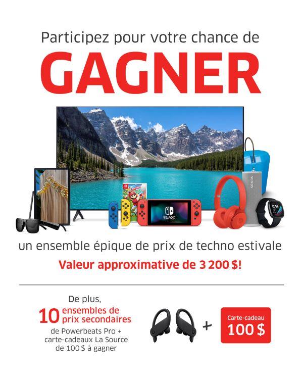 Concours Gagnez Un Ensemble épique De Prix De Techno Estivale Offerts Par La Source!