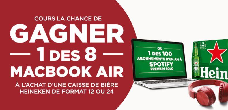 Concours Gagnez Un Macbook Air Ou Un Abonnement Spotify!