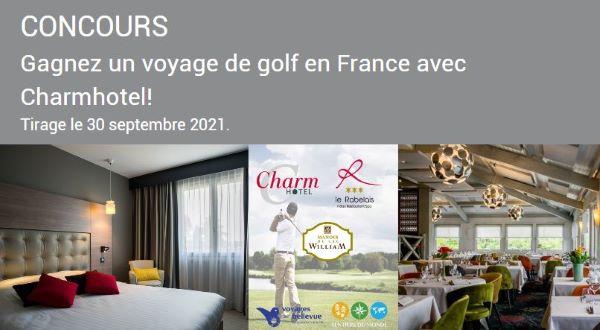 Concours Gagnez Un Voyage De Golf En France Avec Charmhotel!