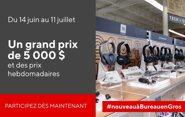 Concours Gagnez Une Carte Cadeau Bureau En Gros De 5000$!