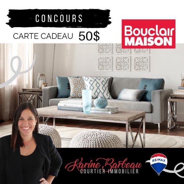 Concours Gagnez Une Carte Cadeau De 50$ Du Magasin Bouclair!