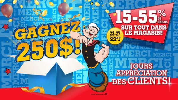 Concours Gagnez Une Carte Cadeau Popeye's De 250$!