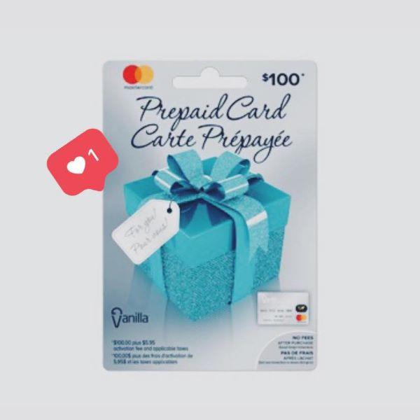 Concours Gagnez Une Carte Cadeau Prépayée D