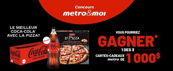 Concours Gagnez Une Des 3 Cartes Cadeaux Métro De 1000$!