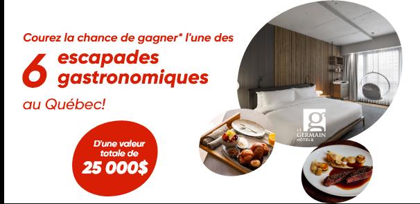 Concours Gagnez Une Des Six Escapades Gastronomiques Dans Un Hôtel Germain!
