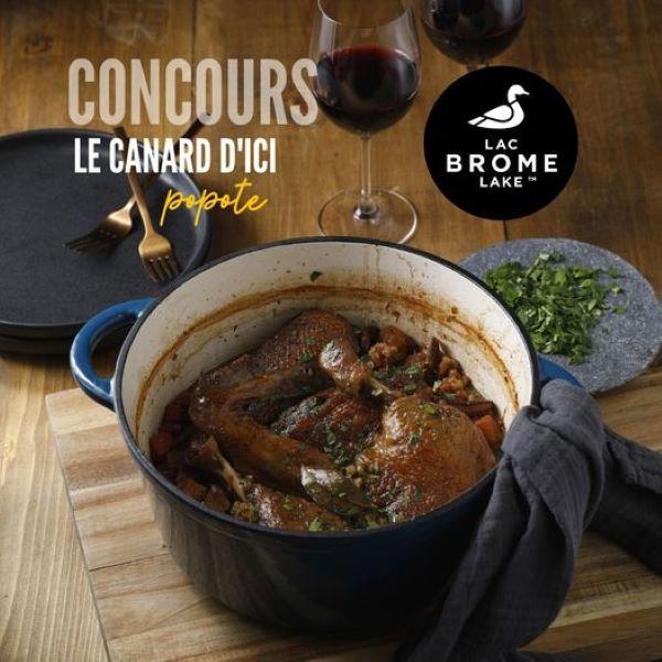 Concours Gagnez Une Magnifique Cocotte En Fonte Ainsi Qu'un Certificat Cadeau De 150$ Chez Canards Du Lac Brome!