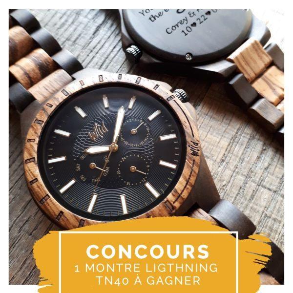 Concours Gagnez Une Montre En Bois Lightning Tn40 D