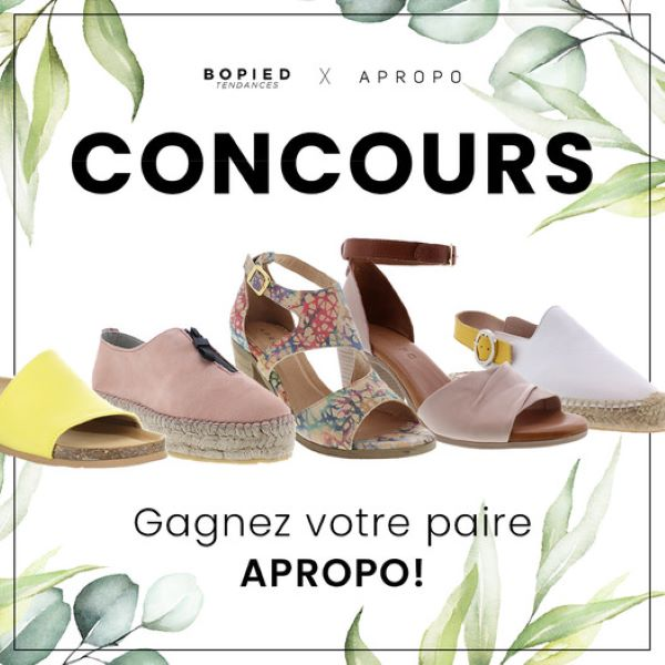 Concours Gagnez Votre Paire De Chaussures Apropo Préférée Cet été!