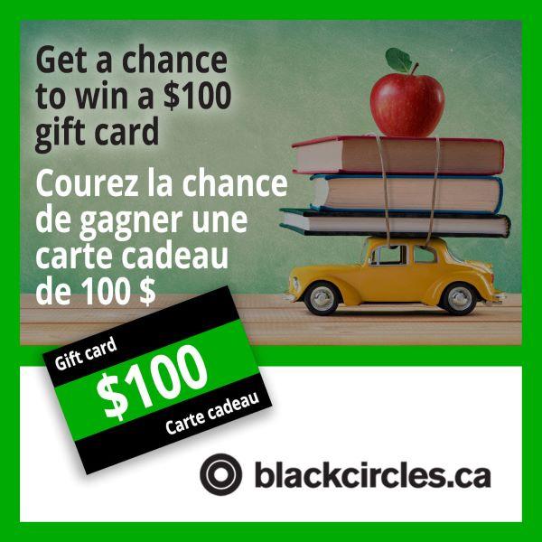 Concours La Rentrée Avec Blackcircles.ca!