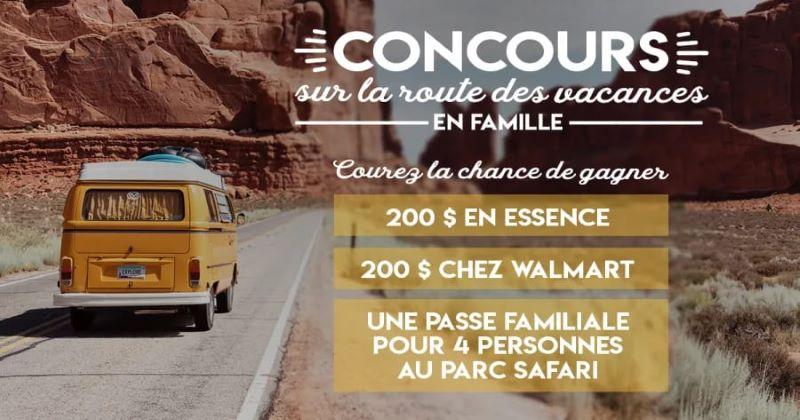 Concours Sur La Route Des Vacances En Famille!