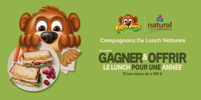 Concours Vous Pourriez Gagner & Offrir Le Lunch Pour Une Année!
