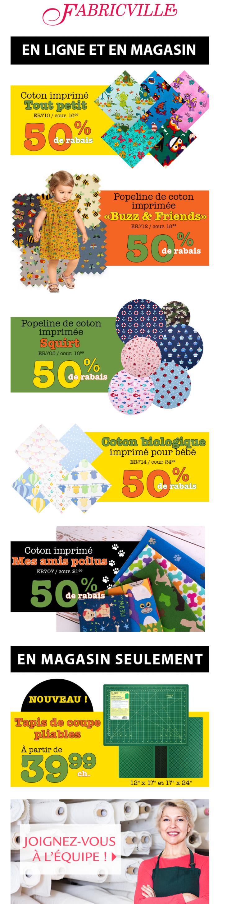 Coton Imprimé Adorable Pour Les Enfants! 50% De Rabais