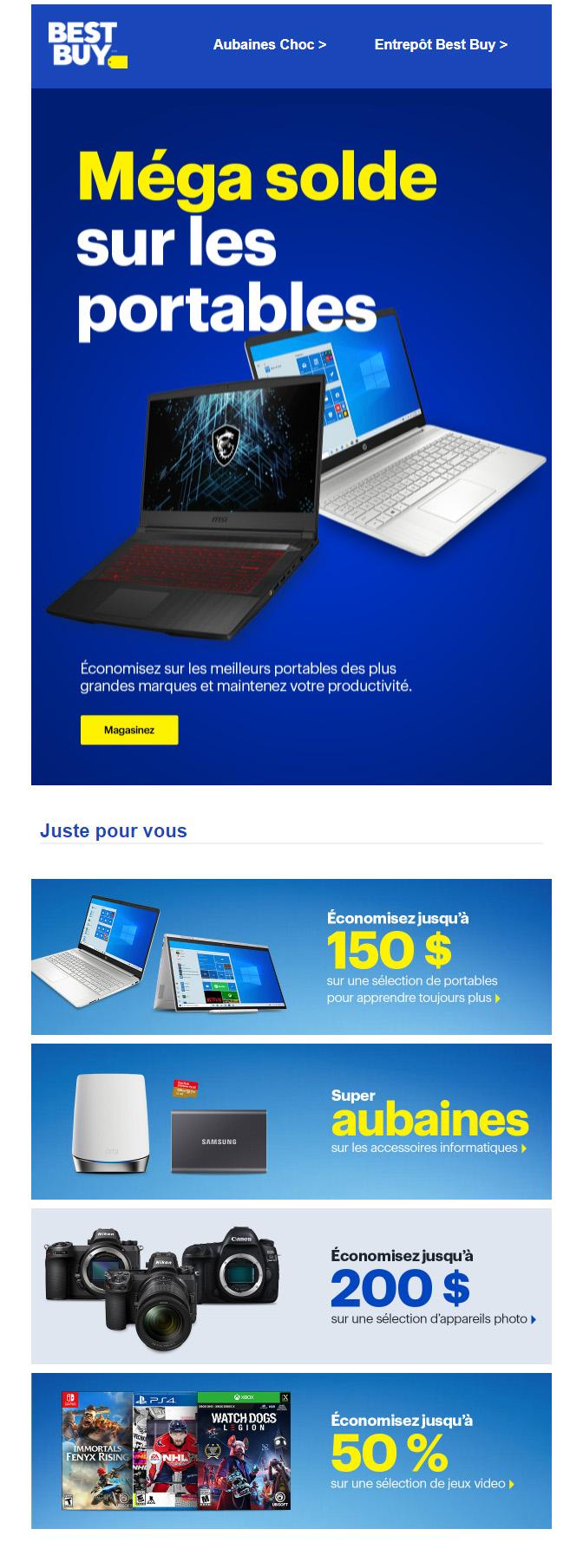 économisez Gros Sur Les Portables Pour La Rentrée.