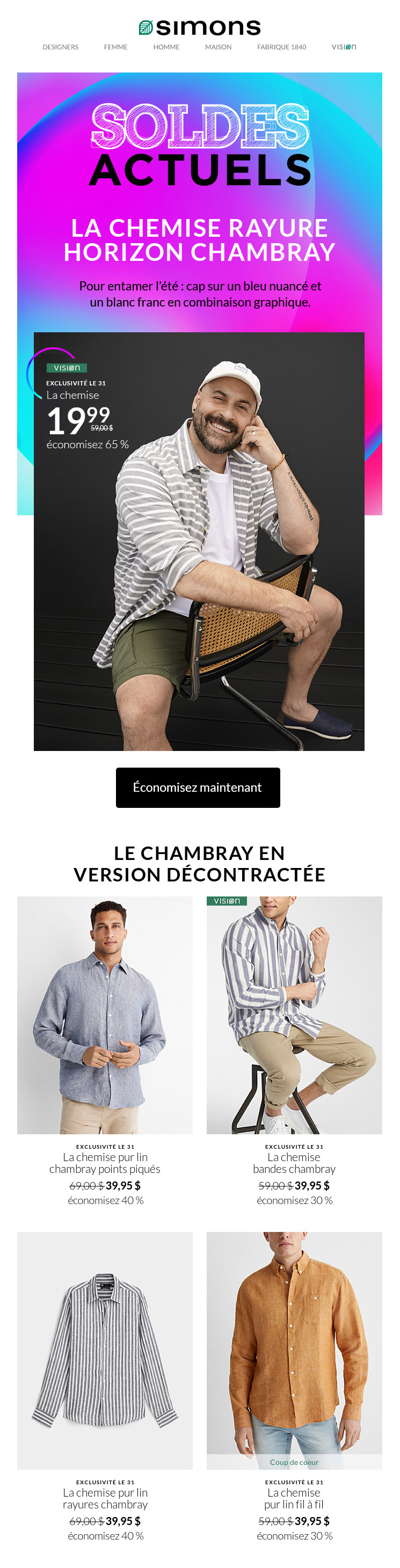 La Chemise Chambray à Adopter!