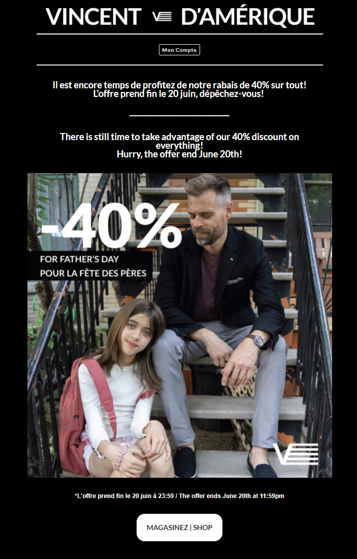 Le Rabais De 40% Continue!