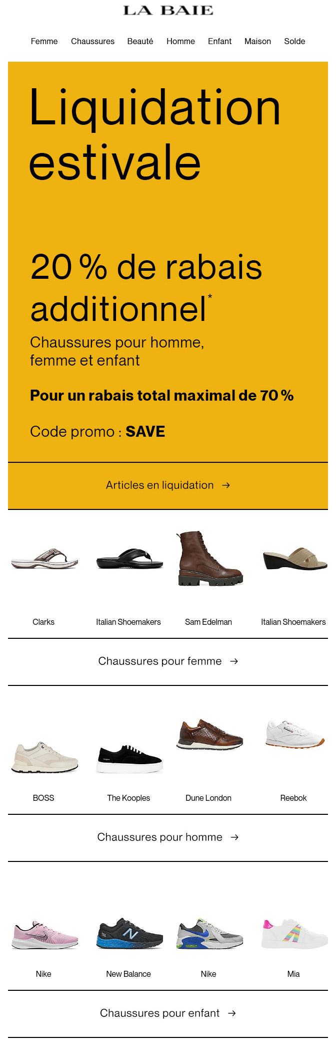 Liquidation Estivale De Chaussures : Jusqu