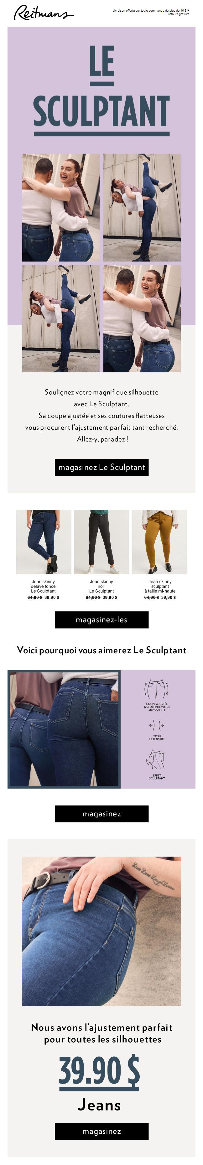 Notre Jeans Le Sculptant Est Fait Pour Vous!