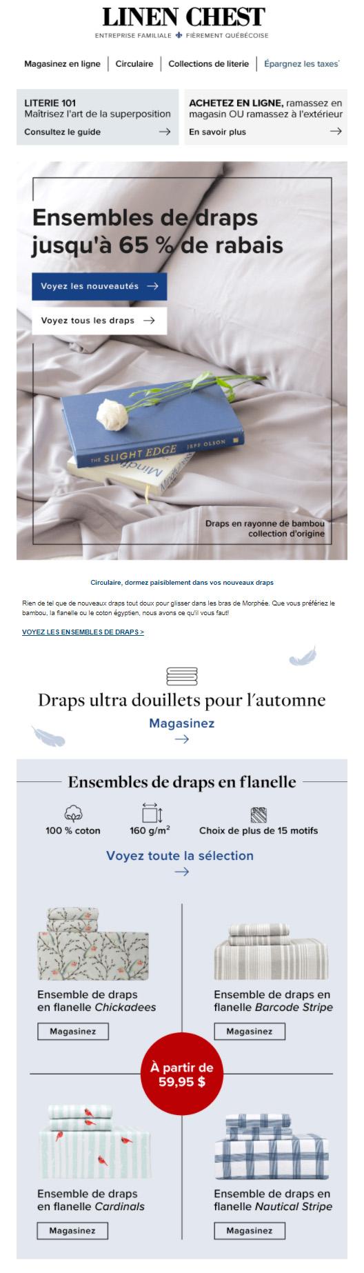 Nous Aimons Les Draps: Flanelle, Coton, Bambou Et Plus!