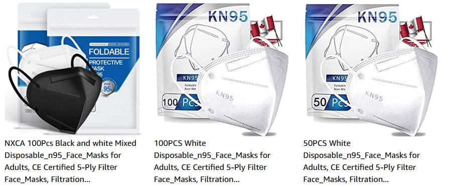 Plusieurs Masques N95 Disponibles